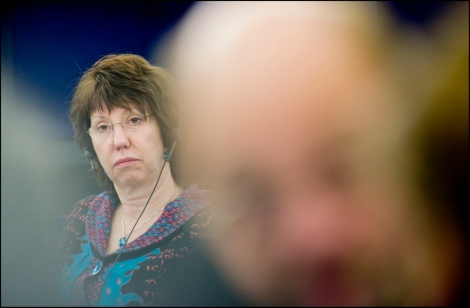 Catherine Ashton during plenary debate in EU Parliament. Photo:European Parliament/Pietro Naj-Oleari/CC