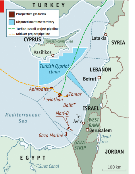 Levant Region Map Map Energy Levant